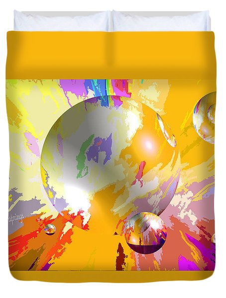 As The World Turns With Peace Duvet Cover