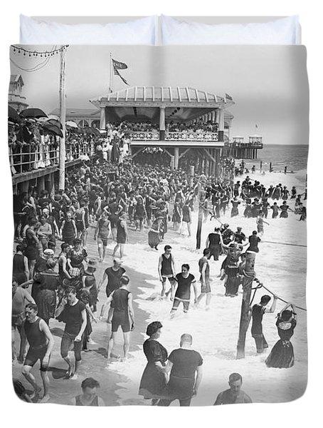Asbury Park - New Jersey - 1908 Duvet Cover by Daniel Hagerman