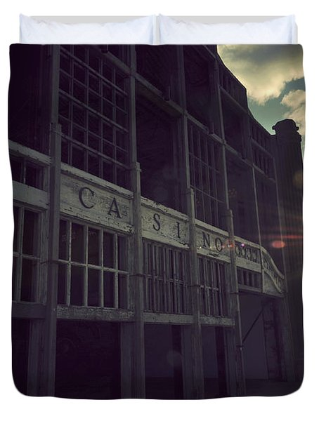 Asbury Park Nj Casino Vintage Duvet Cover