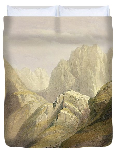Ascent Of The Lower Range Of Sinai Duvet Cover by David Roberts