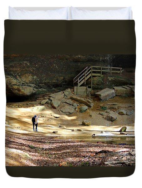 Ash Cave In Hocking Hills Duvet Cover
