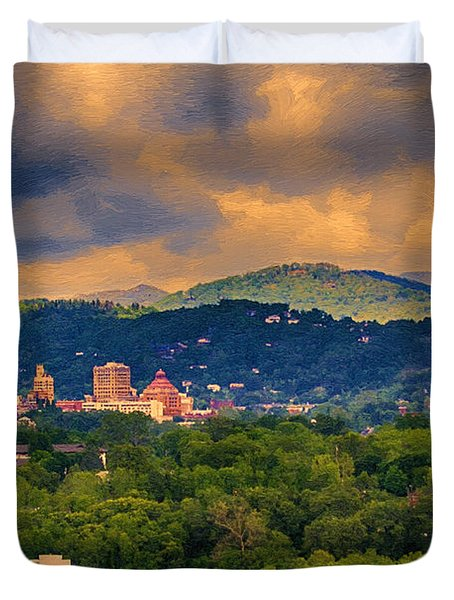 Asheville North Carolina Duvet Cover by John Haldane