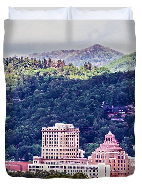 Asheville Painted Duvet Cover by John Haldane