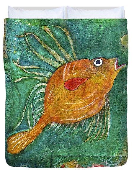 Asian Fish Duvet Cover by Bellesouth Studio