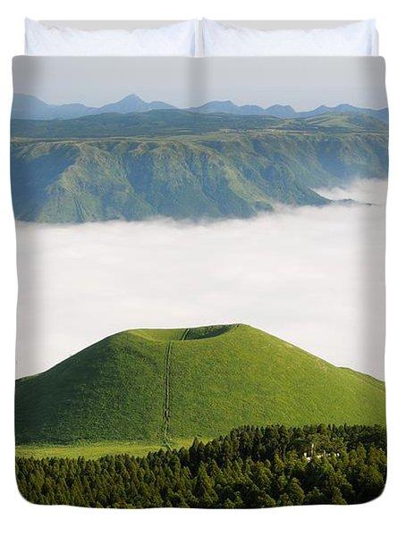 Duvet Cover featuring the photograph Aso Komezuka Sea Of Clouds Cloud Kumamoto Japan by Paul Fearn