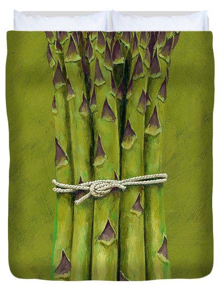 Asparagus Duvet Cover by Brian James