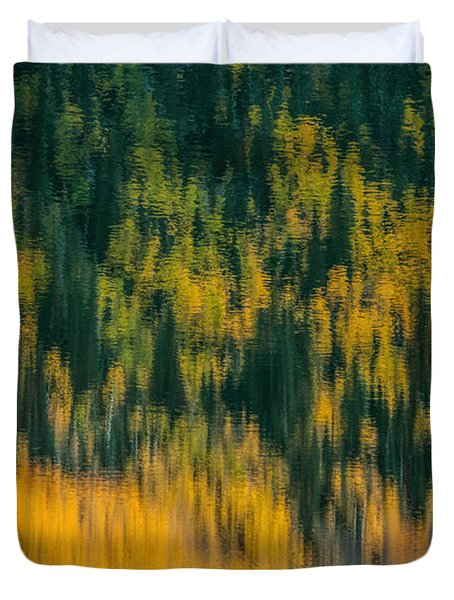 Duvet Cover featuring the photograph Aspen Abstract by Ken Smith
