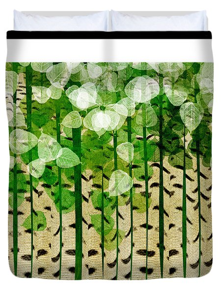 Aspen Colorado Abstract Square 2 Duvet Cover