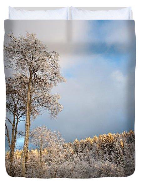 Aspen In Blue Duvet Cover