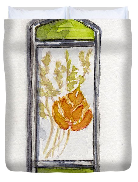 Aspen Leaf Suncatcher Duvet Cover by Julie Maas