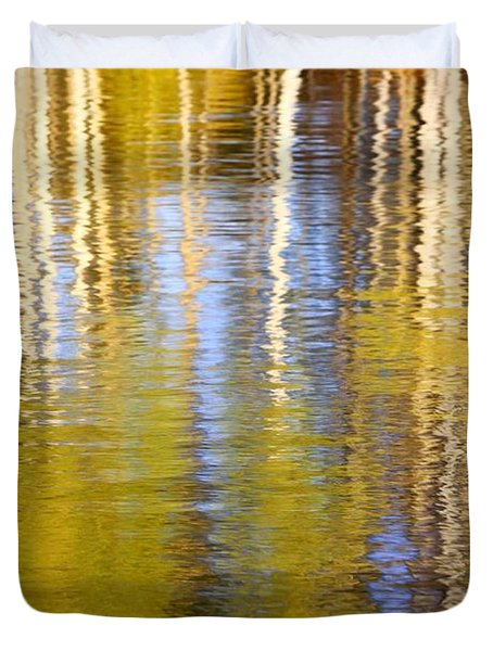 Duvet Cover featuring the photograph Aspen Reflection by Kevin Desrosiers