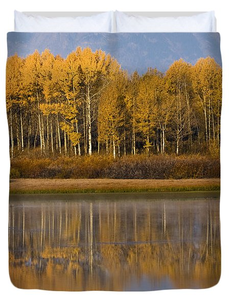 Duvet Cover featuring the photograph Aspen Reflection by Sonya Lang