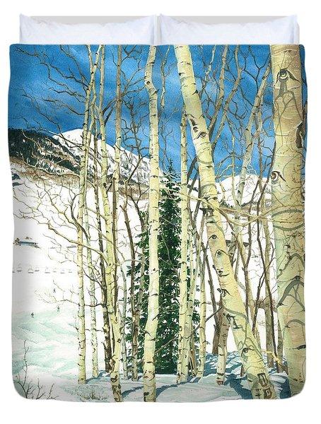 Aspen Shelter Duvet Cover by Barbara Jewell