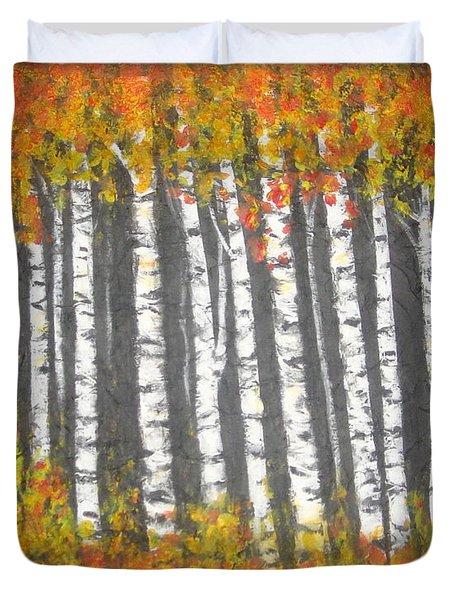 Aspen Trees Duvet Cover