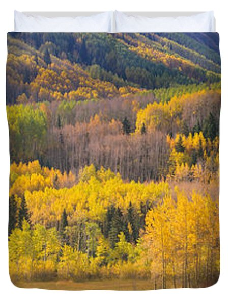 Aspen Trees In A Field, Telluride, San Duvet Cover