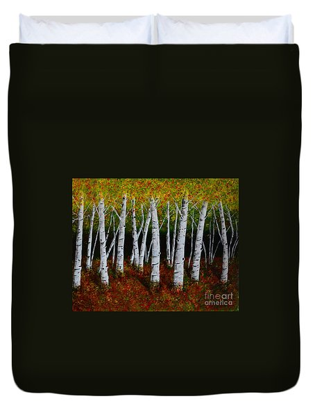 Aspens In Fall 2 Duvet Cover