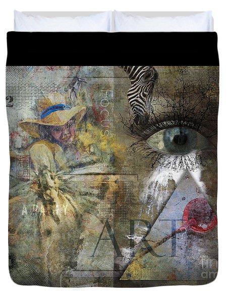 Asperger's Duvet Cover by Nola Lee Kelsey