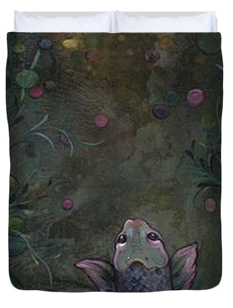 Aspiration Of The Koi Duvet Cover by Shadia Derbyshire