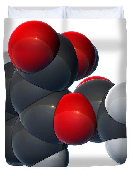 Aspirin, Molecular Model Duvet Cover