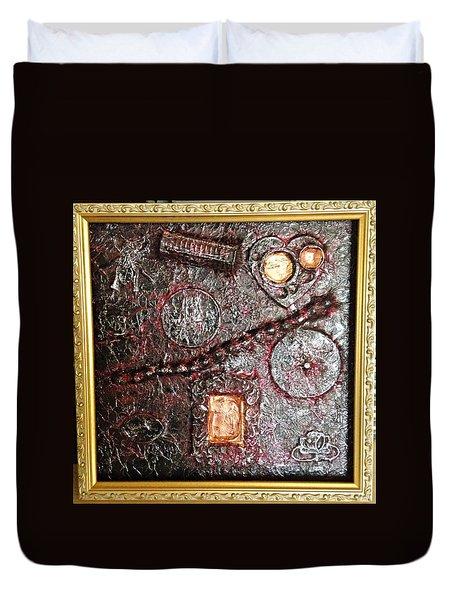 Assemblage Art By Alfredo Garcia Art  Duvet Cover