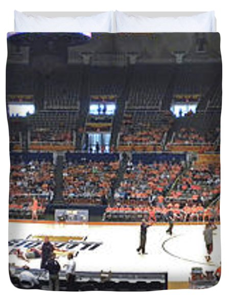 Assembly Hall University Of Illinois Duvet Cover by Thomas Woolworth