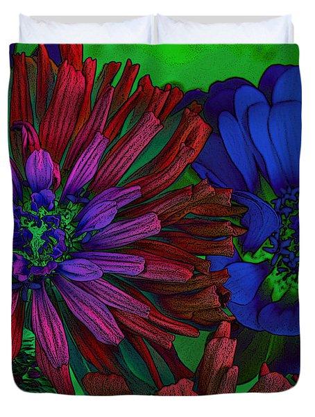 Asters Duvet Cover by David Pantuso