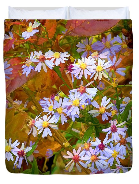 Asters Duvet Cover by Ron Jones
