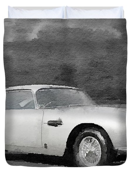 Aston Martin Db5 Watercolor Duvet Cover