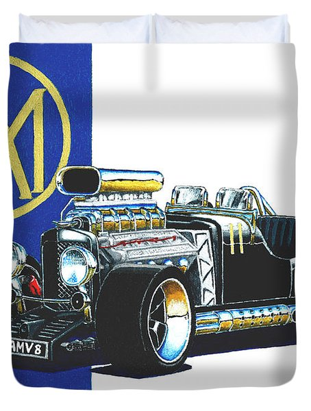 Aston Martin Hot Rod Duvet Cover