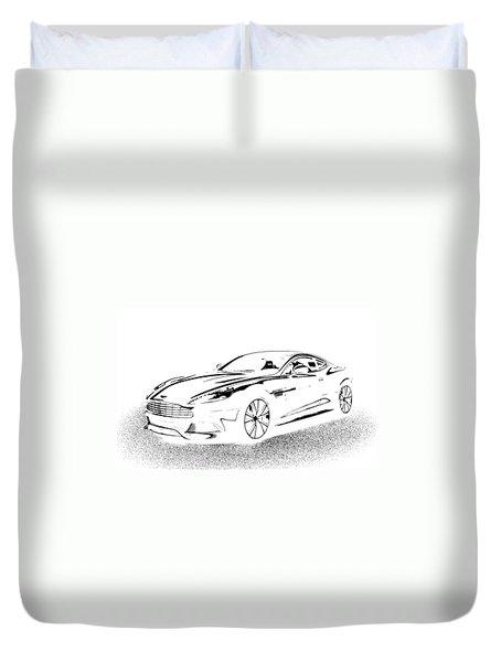 Aston Martin Duvet Cover by Rogerio Mariani