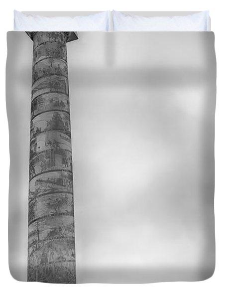 Duvet Cover featuring the photograph Astoria The Column by David Millenheft