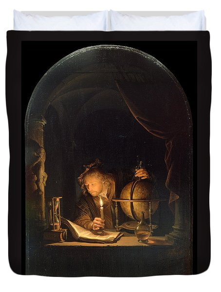 Astronomer By Candlelight Duvet Cover
