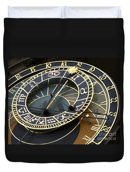 Astronomical Clock Duvet Cover