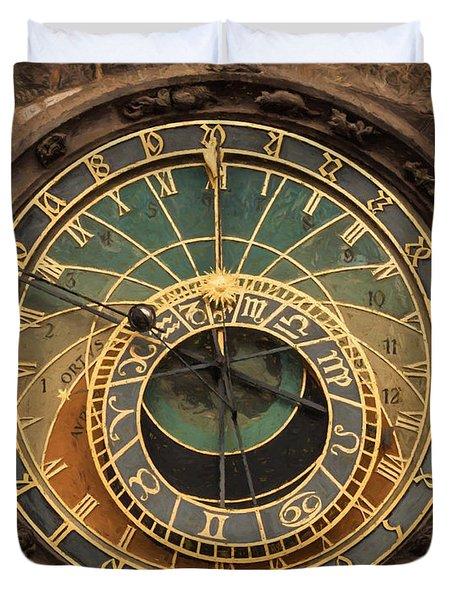 Astronomical Clock Duvet Cover