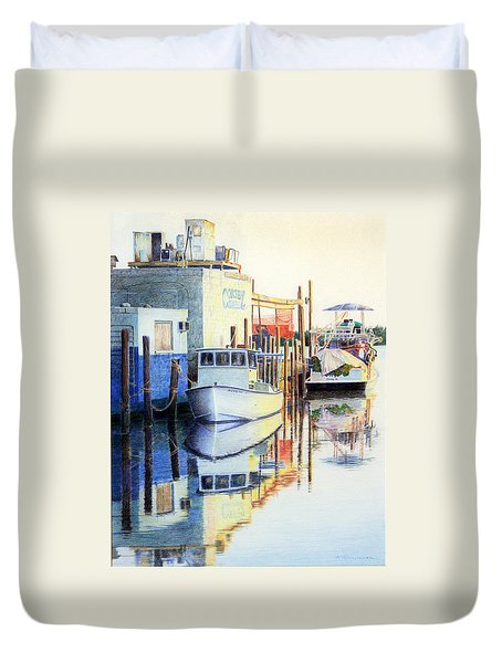 At Cortez Docks Duvet Cover