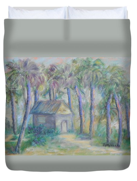 At Home In Marineland Fl Duvet Cover