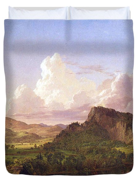 At Home On The Lake By Frederick Edwin Church Duvet Cover