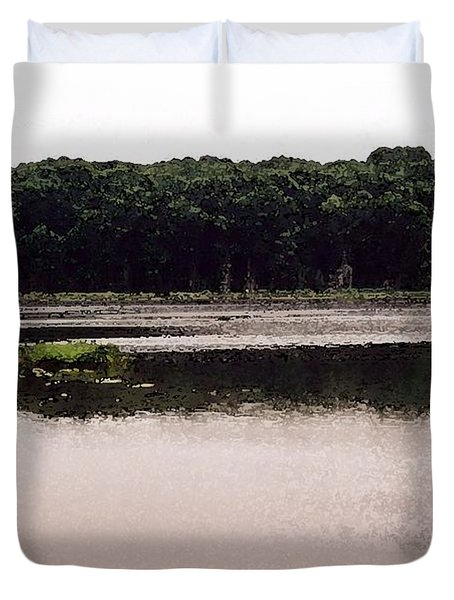 Duvet Cover featuring the photograph At Kettle Lake Wc  by Lyle Crump