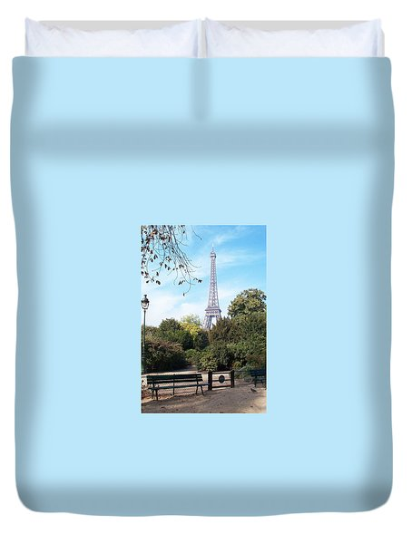 Duvet Cover featuring the photograph At Last by Barbara McDevitt