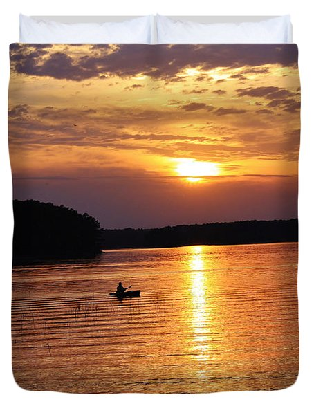 At Peace On The Lake Duvet Cover by Marilyn Carlyle Greiner