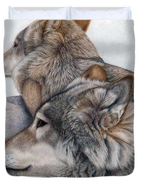 At Rest But Ever Vigilant Duvet Cover by Pat Erickson