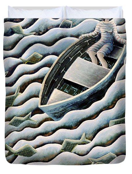 At Sea Duvet Cover by Celia Washington