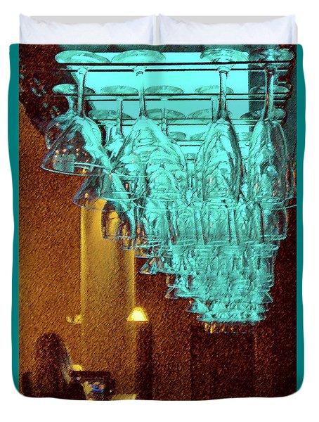 At The Bar Duvet Cover by Ben and Raisa Gertsberg