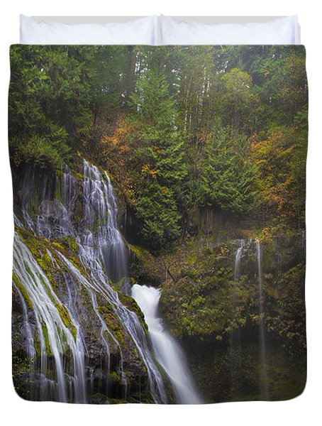 At The Bottom Of Panther Creek Falls Duvet Cover by David Gn