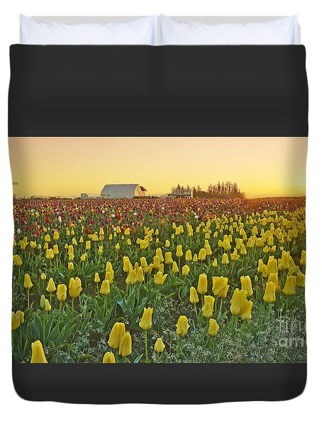 At The Crack Of Dawn Duvet Cover by Nick  Boren