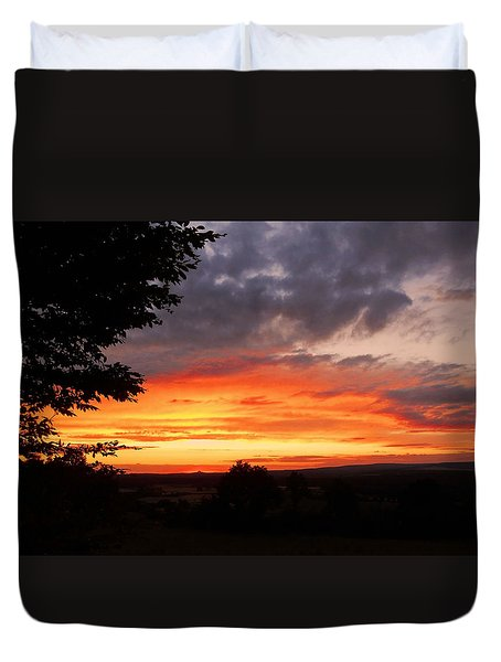 Duvet Cover featuring the photograph At The End Of The Day ... by Juergen Weiss