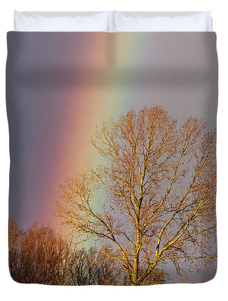 At The End Of The Rainbow Duvet Cover