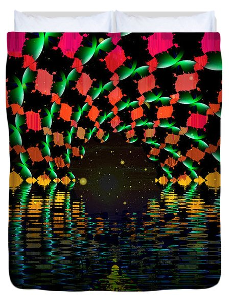 At The End Of The Tunnel Duvet Cover by Faye Symons