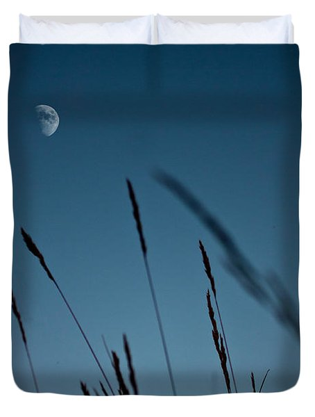 At The Fall Of Night Duvet Cover by K Hines