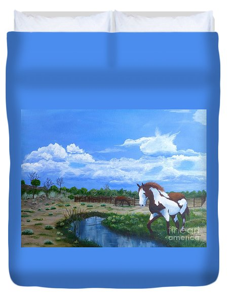 At The Ranch Duvet Cover